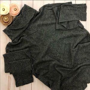 Madewell Sweater Grey 100% Cotton Turtleneck